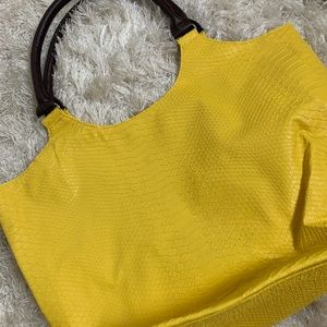 Neiman Marcus yellow tote